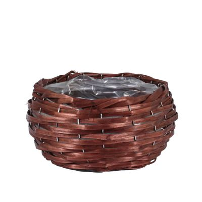 23cm Round Woodhouse Basket - Nut Brown
