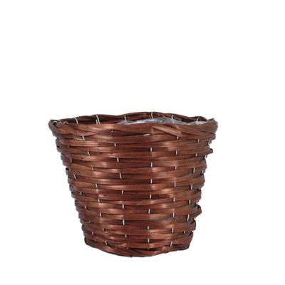 25cm Round Woodhouse Basket - Nut Brown