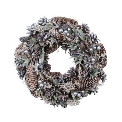 30cm Silver Cloud Wreath (1/12)