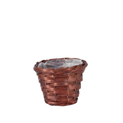17cm Round Woodhouse Basket - Nut Brown