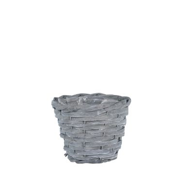 17cm Round Woodhouse Basket - Grey Wash