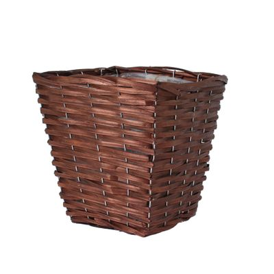25cm Square Woodhouse Basket - Nut Brown