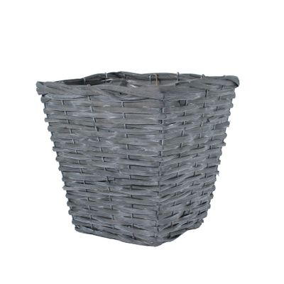 25cm Square Woodhouse Basket - Grey Wash