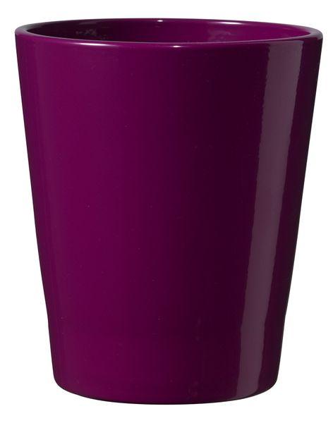 Merina Candy Ceramic Pot Shiny Blackberry(14cm)