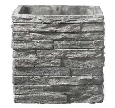 Latina Stonewall Ceramic Pot (29 x 29cm) - Stone Gray