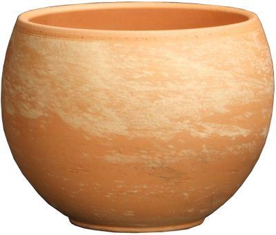Marble Terracotta Sphere Pot (22.8 x 16.9cm)
