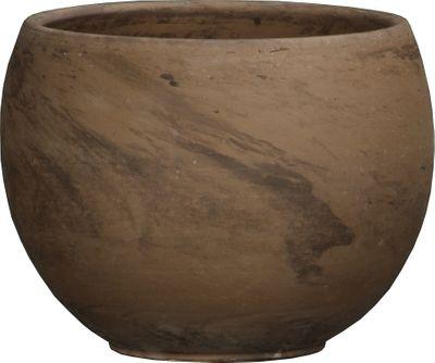 Basalt Terracotta Sphere Pot (32.1 x 23.8cm)