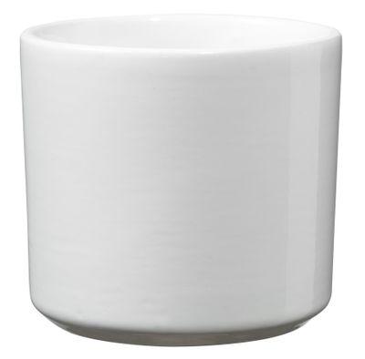 Round Las Vegas Pot - Shiny White (7 x 8cm)