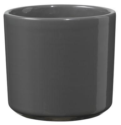 Round Las Vegas Pot - Shiny Anthracite (7 x 8cm)