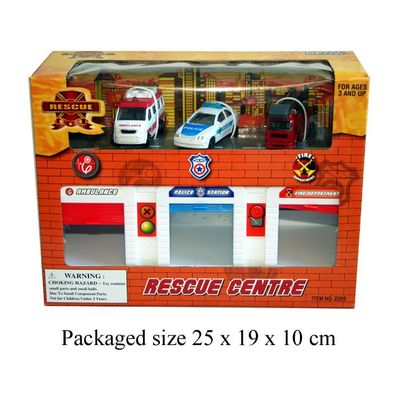 T19631 Rescue Station With 3 Emgerency Cars