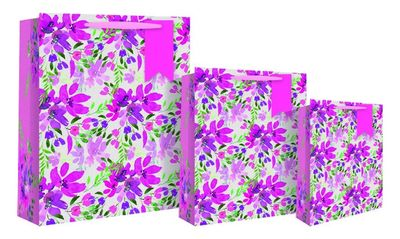 Watercolour floral small gift bag