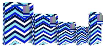Chevron Bottle Bag -Blue