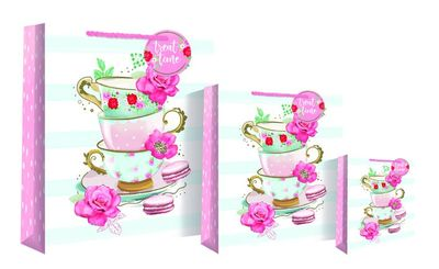 Teacup and Flower Gift Bags
