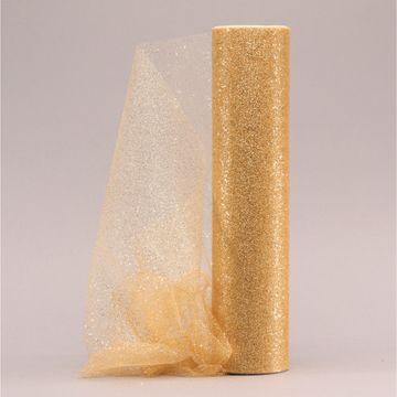 Gold Glitter Tulle 30cm x 23m