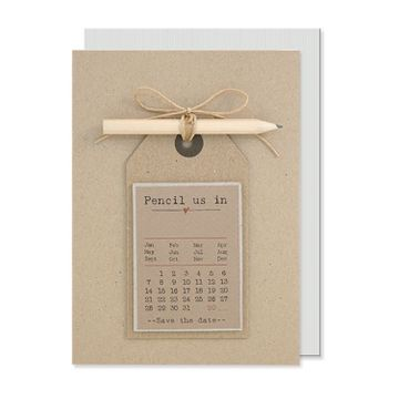 "Pencil us in ""Save the Date"" Card with Pencil"