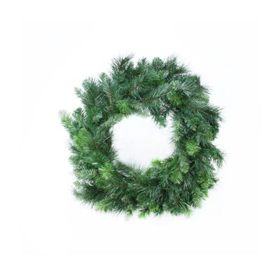 "24"" Deluxe Evergreen Double Wreath (150 Tips)"