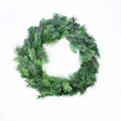 "30"" Deluxe Evergreen Double Wreath (190 Tips)"