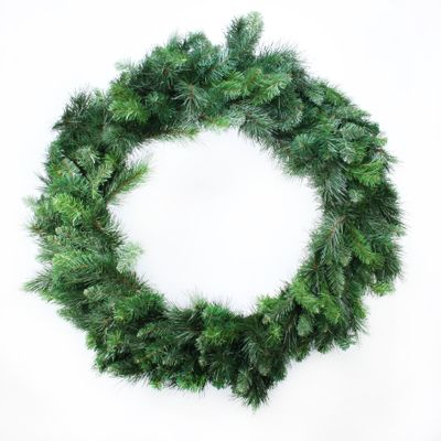 "36"" Deluxe Evergreen Double Wreath (260 Tips)"