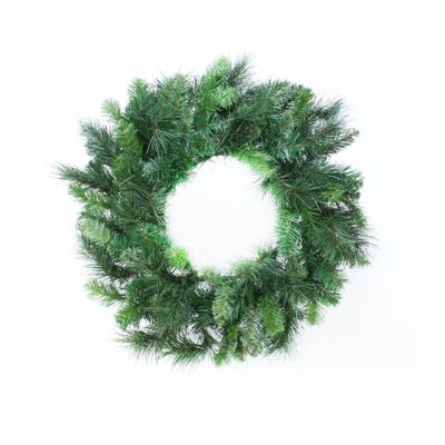 "20"" Deluxe Evergreen Double Wreath (110 Tips)"