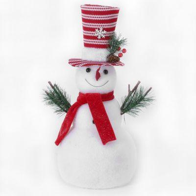 Snowman w/Red & White Stripe Hat (2/6)