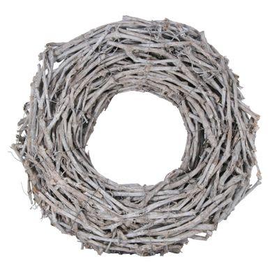 50cm Grapewood Whitewash Wreath (1/50)