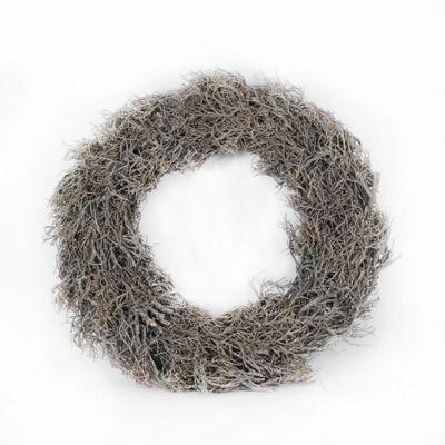 38cm Iron Bush Whitewash Wreath (1/8)