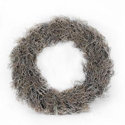 48cm Iron Bush Whitewash Wreath (1/8)