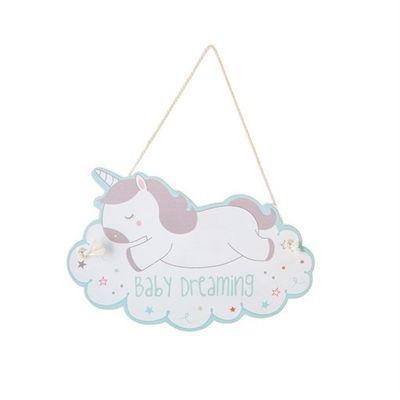 Unicorn Baby Room Hanging Plaque