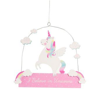 Rainbow unicorn plaque
