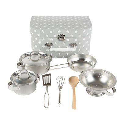 Grey Stars Play Cooking Set
