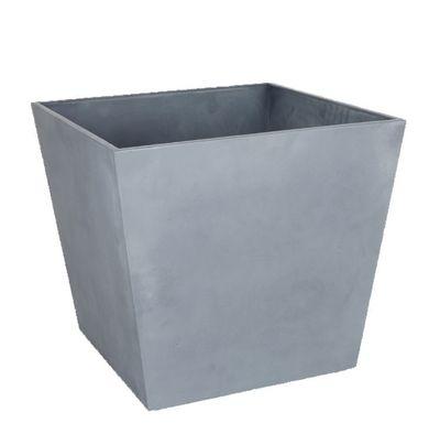 48cm Light Grey Low Square Beton Planter