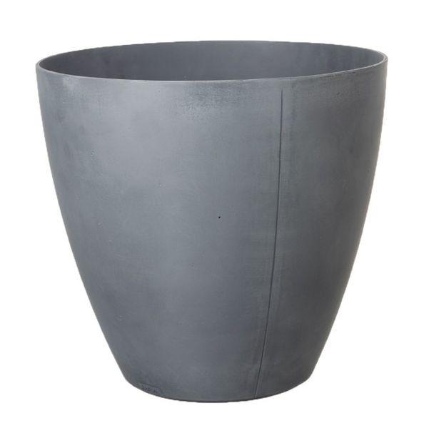 53cm Tall Round Beton Planter - Dark Grey