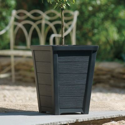 31cm Anthracite Tall Taper Planter