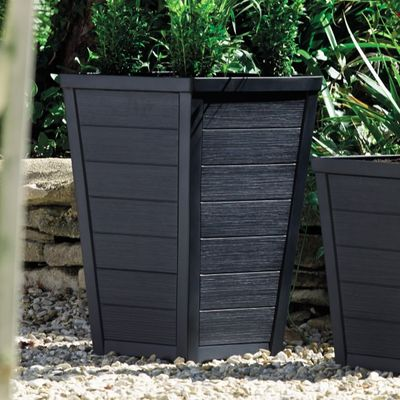 36cm Tall Taper Planter - Anthracite