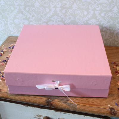 Baby Pink Keepsake Box with Ribbon (30x30x9.2cm)
