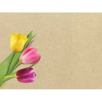 Tulips Greeting Card on Kraft Card