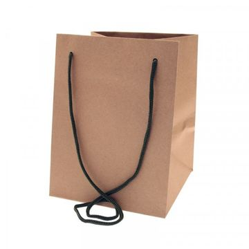 Natural Kraft With Moss Handle Hand Tie Bag