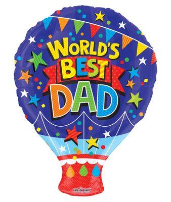 Worlds Best Dad Balloon (18 Inch)