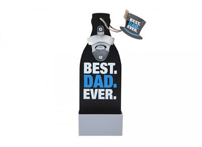 Best Dad Ever Wall Bottle Opener With Hang Tag