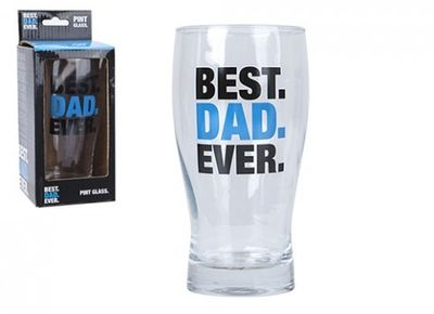 Printed Dad Pint Glass In Colour Window Box