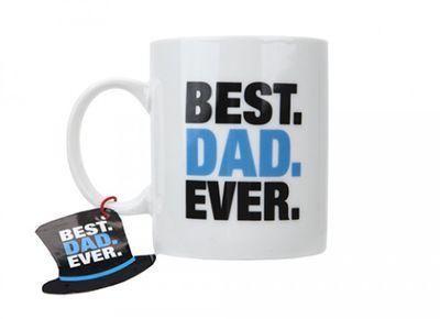 11oz Best Dad Ever Mug With Hang Tag