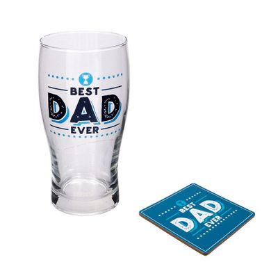 Best Dad Ever Pint & Coaster Set