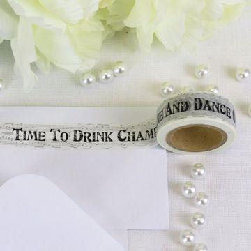 Drink Champagne Newsprint Tape