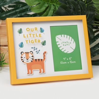 Our Little Tiger Jungle Baby Paperwrap Frame (4 x 6 Inches)