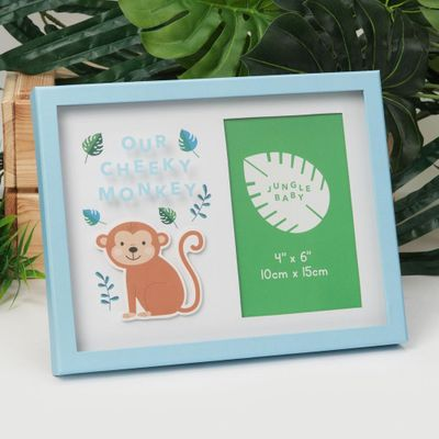 Our Little Monkey Jungle Baby Paperwrap Frame (4 x 6 Inches)