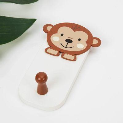 Jungle Baby Wooden Monkey Wall Hook