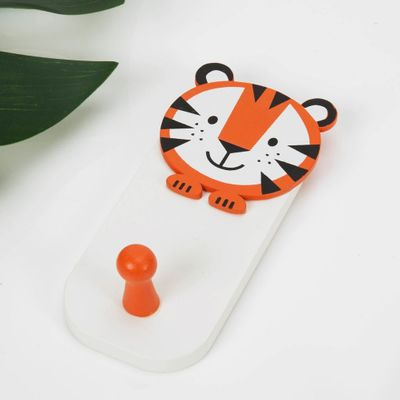 Jungle Baby Wooden Tiger Wall Hook