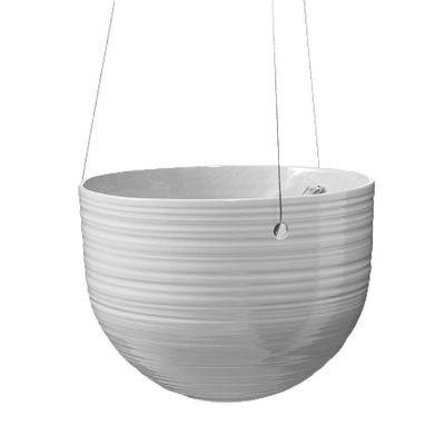 Bergamo Ceramic Hanging Pot Light Gray (18cm)