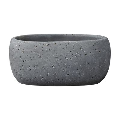 Bettona Ceramic Trough Cement Dark Gray (14 x 6cm)