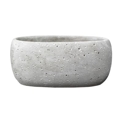 Bettona Ceramic Trough Cement Light Gray (14 x 6cm)